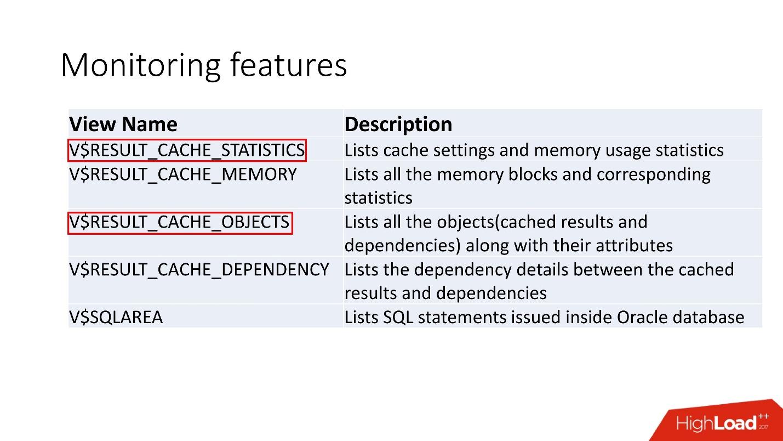 100500 способов кэширования в Oracle Database - 17