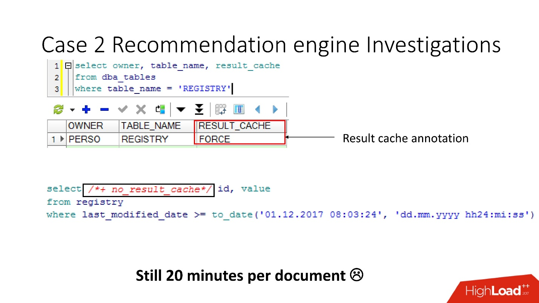 100500 способов кэширования в Oracle Database - 20