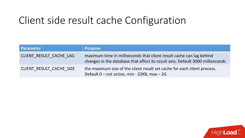 100500 способов кэширования в Oracle Database - 41