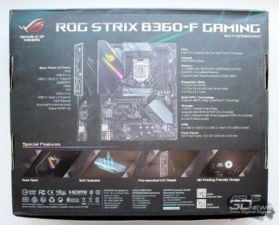 Новая статья: Материнская плата ASUS ROG Strix B360-F Gaming: любителям Strix – фанатам ROG