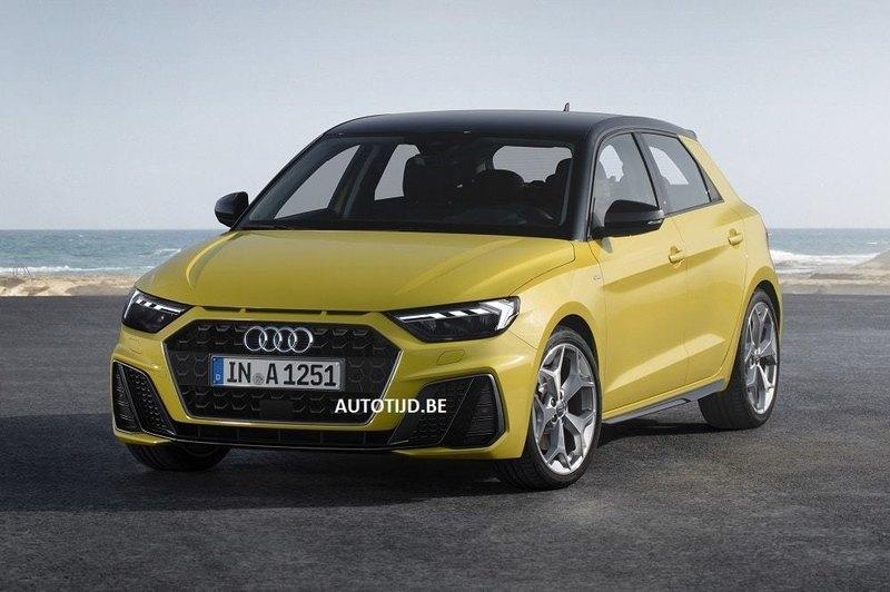 Внешность нового поколения Audi A1 раскрыли до премьеры