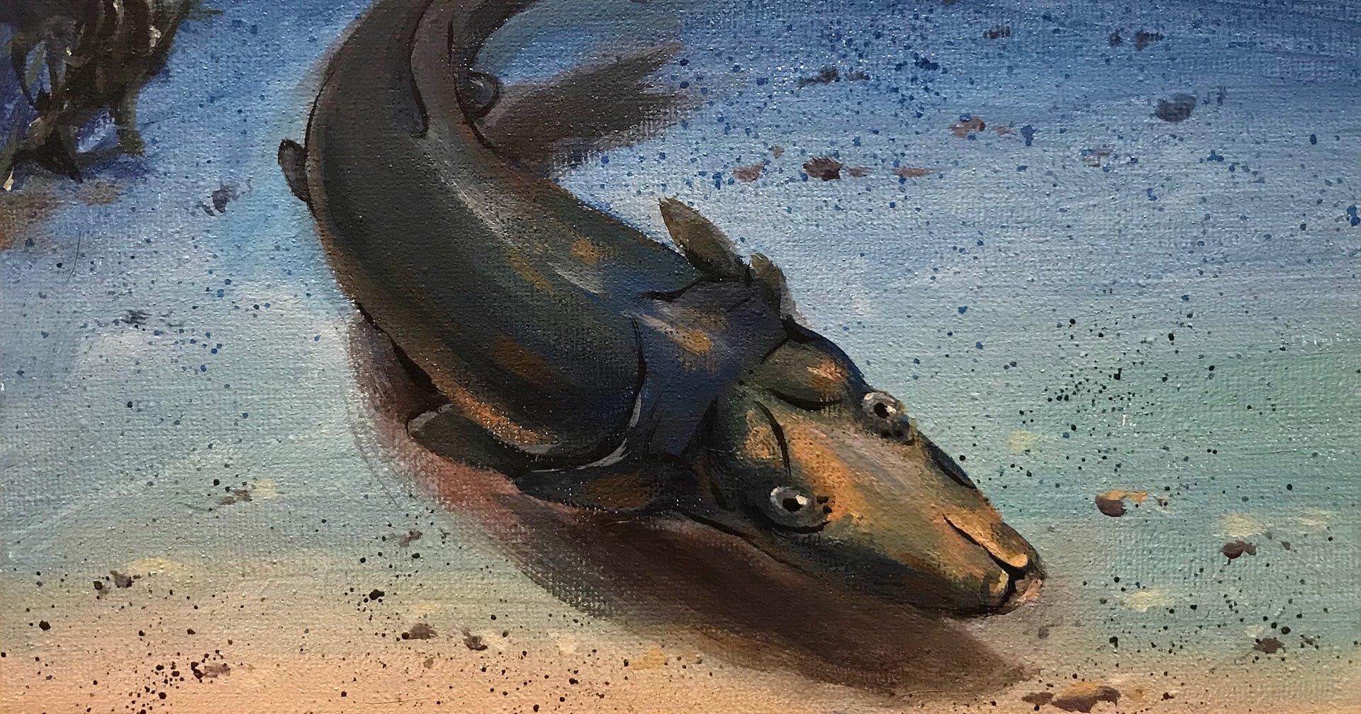 Древняя рыба рыла землю «носом»
