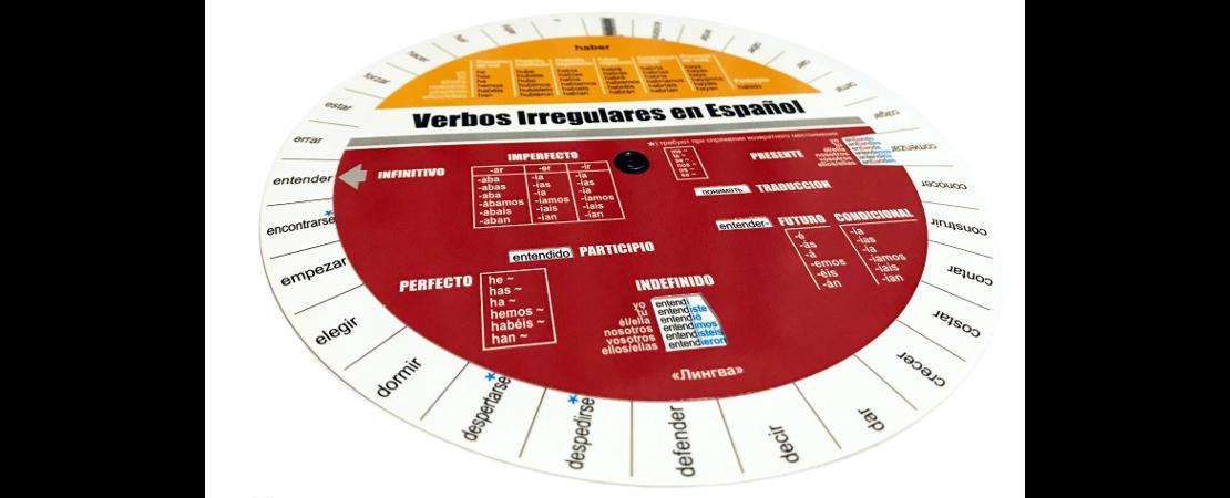 таблица-вертушка неправильных глаголов