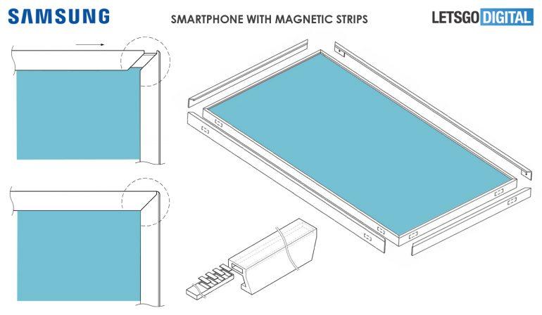 Samsung запатентовала съемные магнитные рамки дисплея