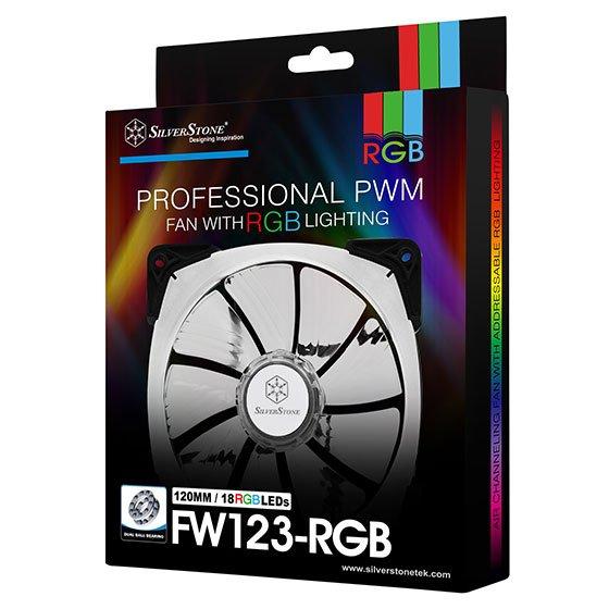 Вентиляторы SilverStone Technology FW142-RGB и FW123-RGB украшены полноцветной подсветкой