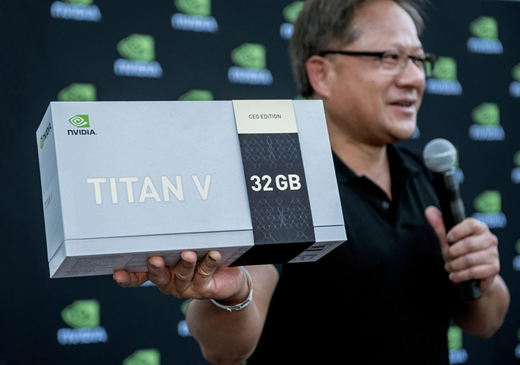 Дженсен Хуанг раздал исследователям 12 видеокарт TITAN V CEO Edition