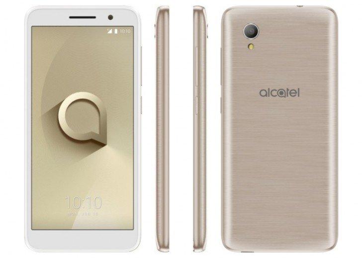 Основой смартфона Alcatel 1 служит SoC MediaTek MT6739 и Android Oreo (Go Edition)