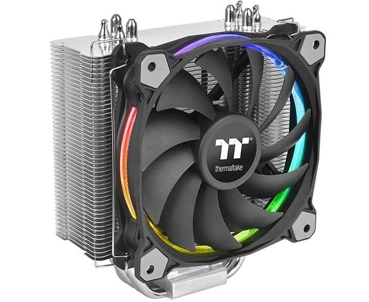 Кулер Thermaltake Riing Silent 12 RGB Sync Edition подходит для чипов AMD и Intel