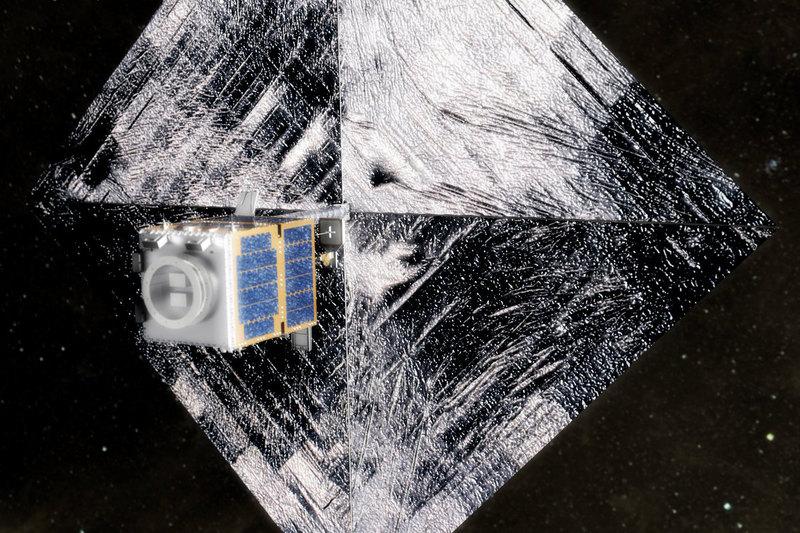 С МКС запустили спутник-уборщик с сетью и гарпуном