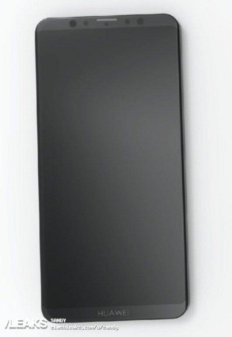 Фотография смартфона Huawei Mate 20 указывает на отсутствие выреза вверху экрана и наличие сдвоенной фронтальной камеры.