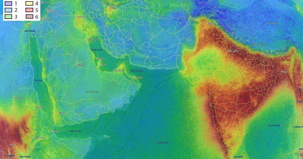 Над Индией обнаружили облако формальдегида