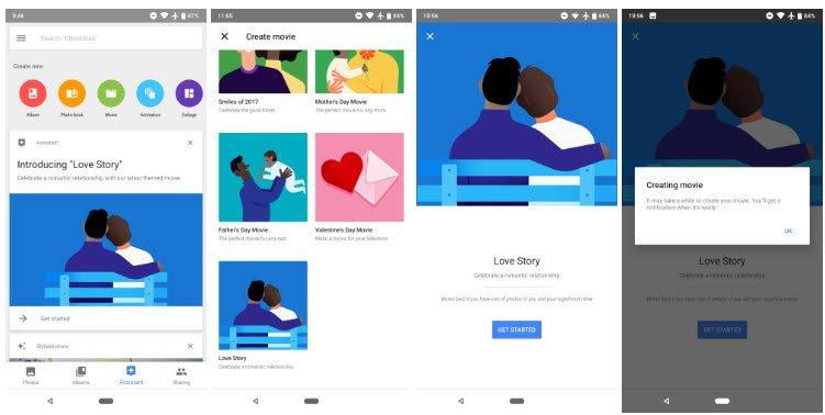 Google Photos теперь умеет создавать ролики Love Story