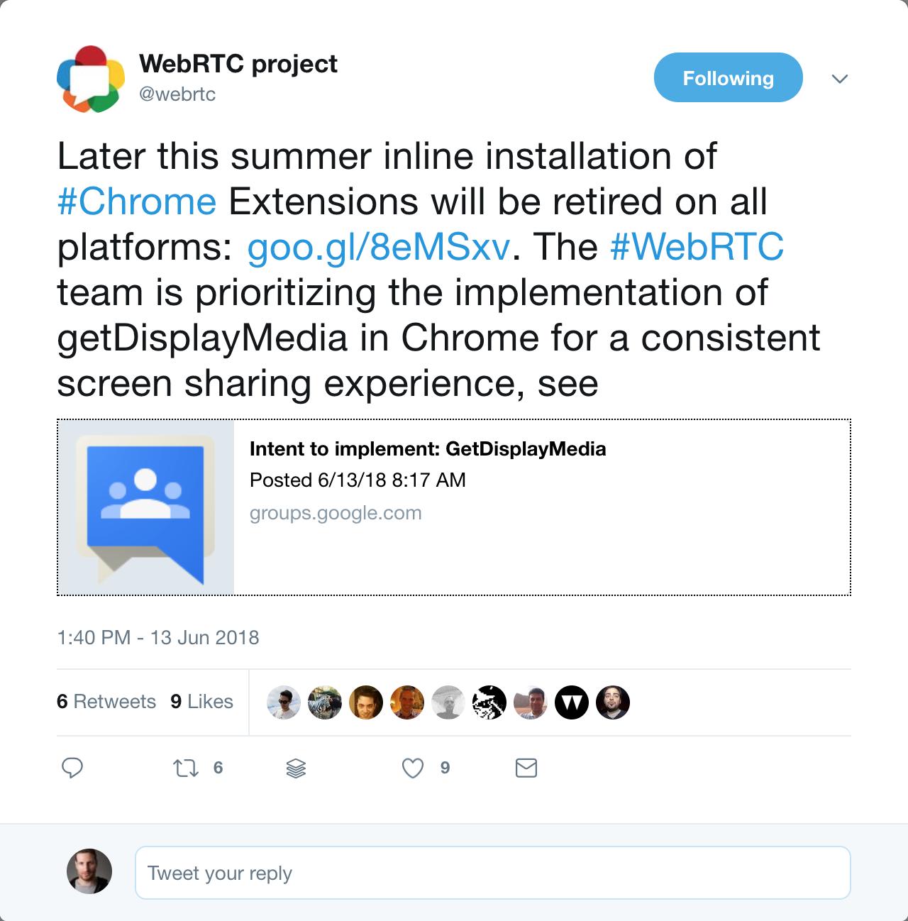 Скриншаринг в Chrome – готовимся к getDisplayMedia - 4
