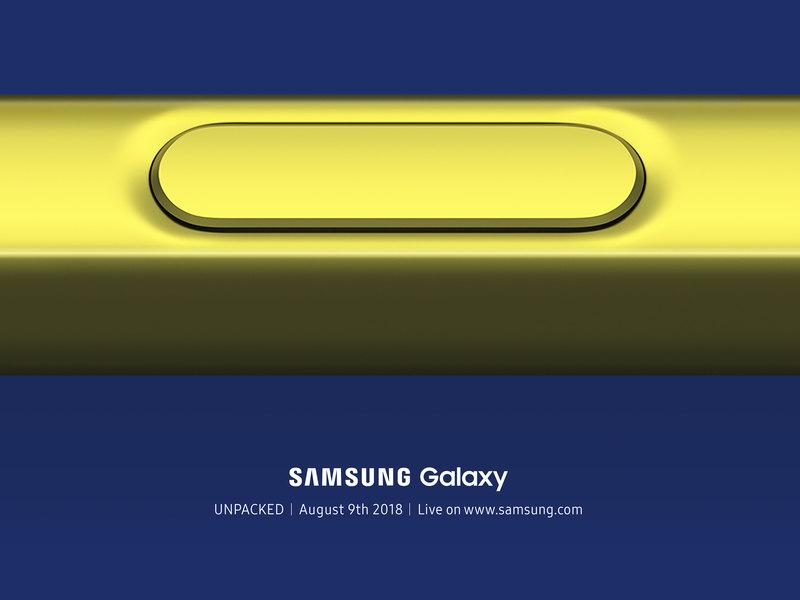 Samsung раскрыла дату анонса Galaxy Note 9