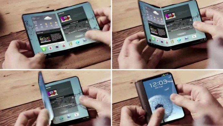 Samsung готова приступить к производству гибких панелей OLED для своего первого складного смартфона