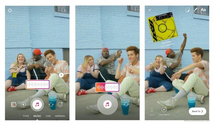 В истории Instagram добавили музыку