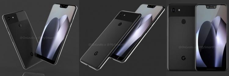 Google Pixel 3 и 3 XL предстали на качественных рендерах