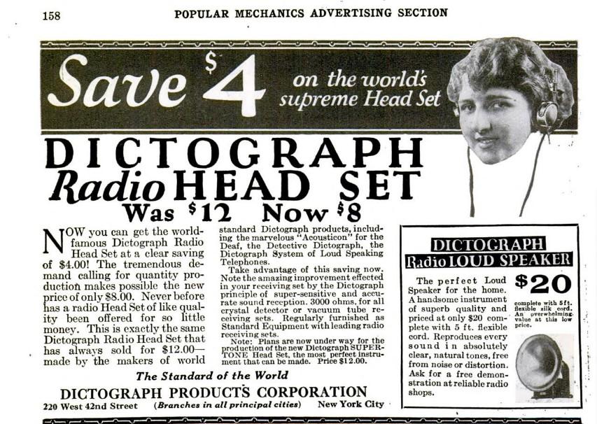 Аудиогаджет специального назначения: Dictograph — от цеха и оперы до первой прослушки, технический шедевр 1907-го года - 7