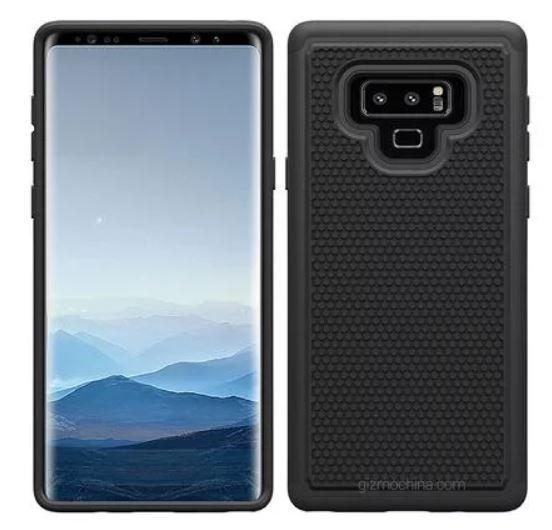 На новых иллюстрациях смартфон Samsung Galaxy Note9 показан спереди и сзади