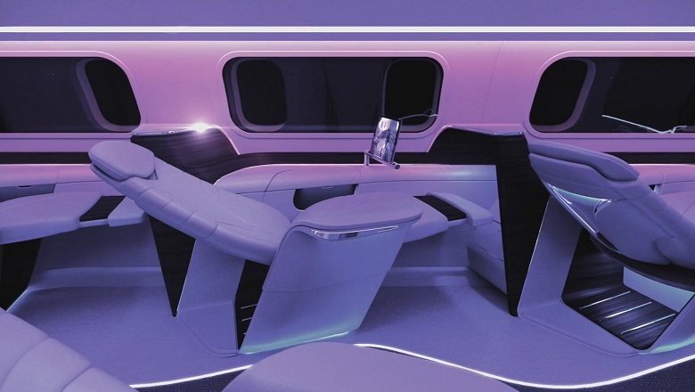 Aura анонсирует коммерческие полеты на самолетах с экранами OLED в иллюминаторах и на потолке