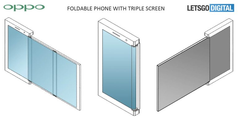 Oppo запатентовала несколько видов сгибающихся смартфонов