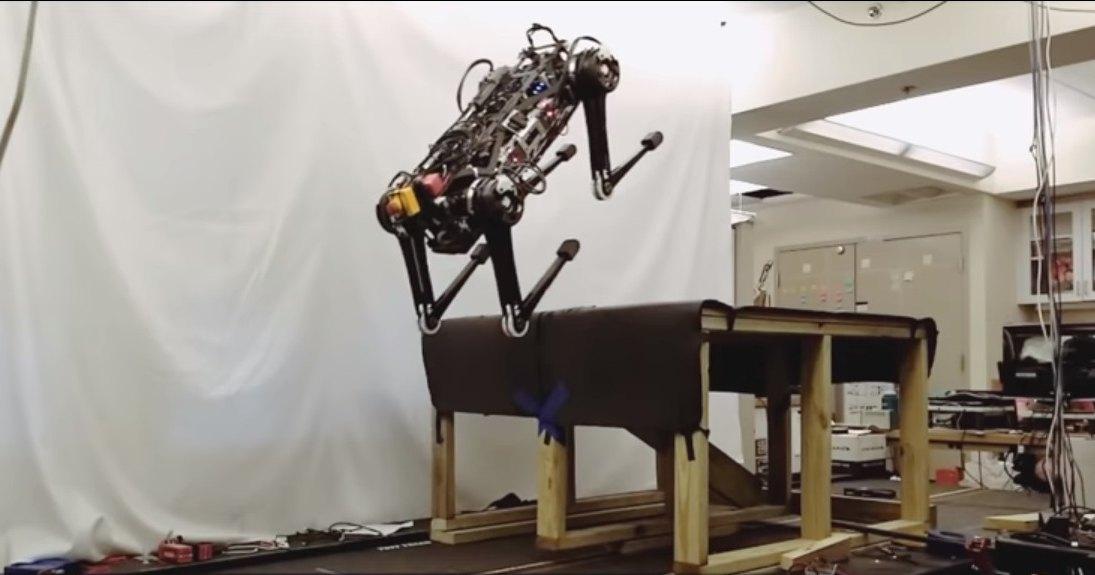 Робот запрыгивает на стол и видит без глаз: рекордный прыжок