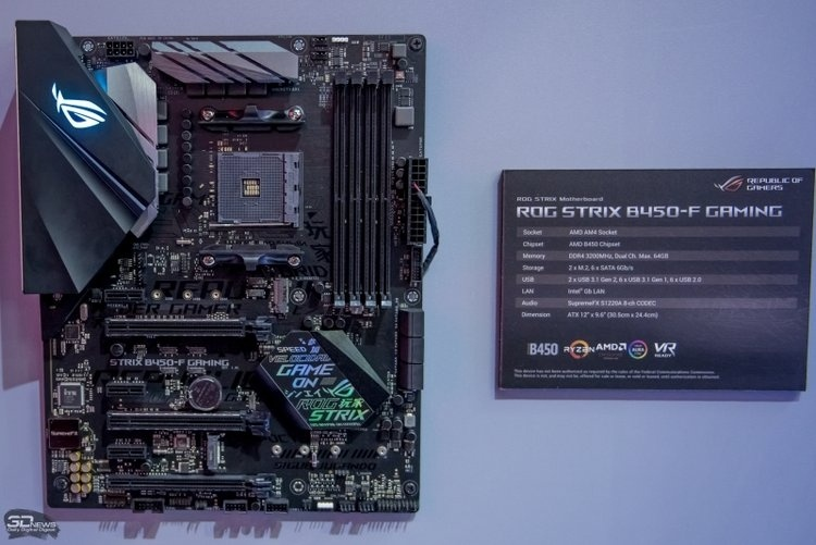 Материнские платы на AMD B450 начали поступать в продажу