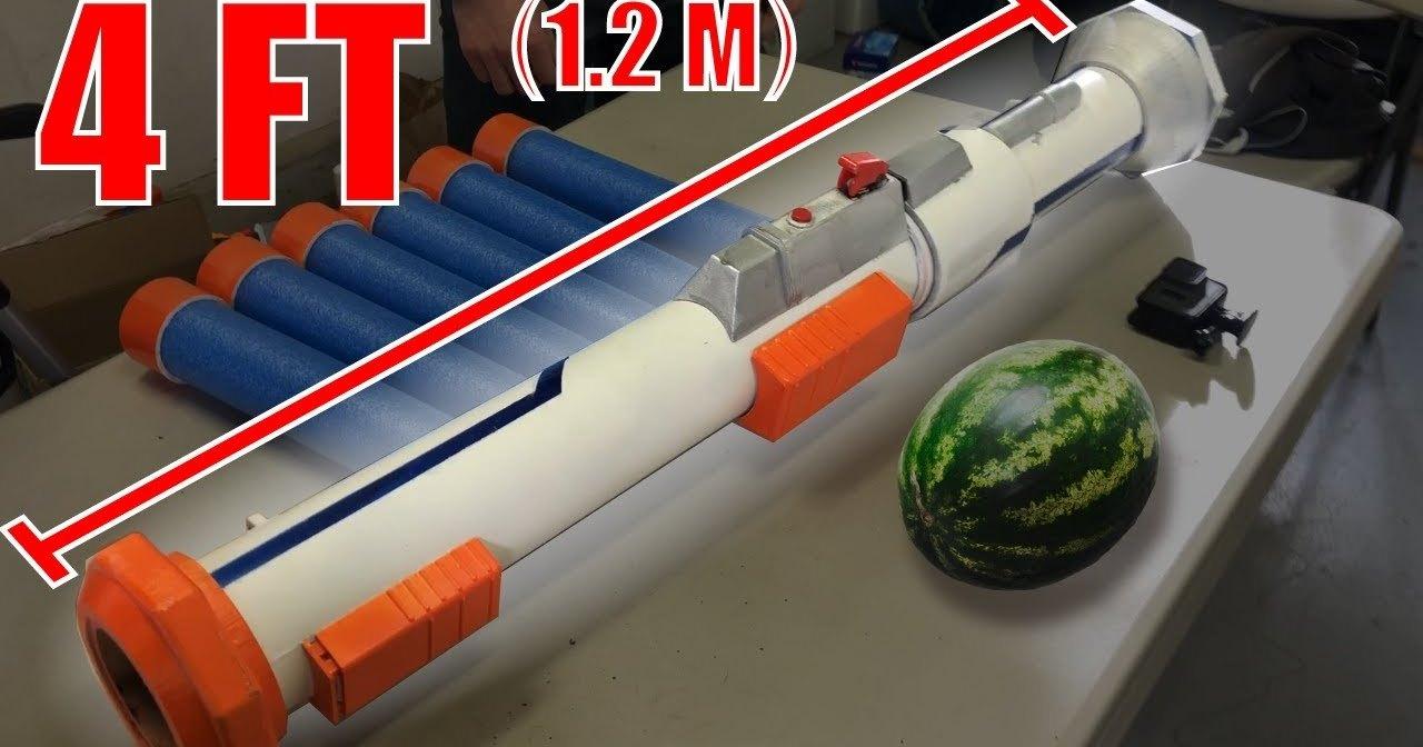 Огромная нерф-базука: стрельба на поражение