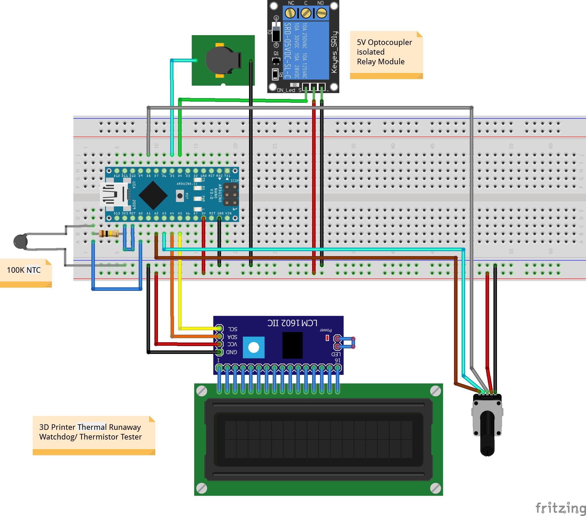«Сторож» 3D-принтера и испытатель термисторов - 2