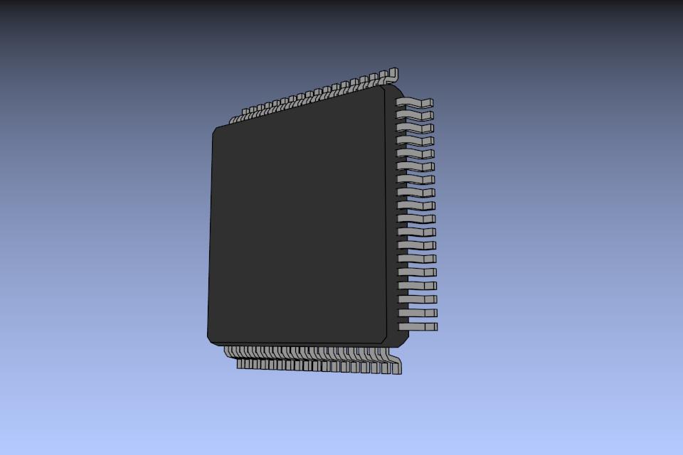 Blender: 3D-модель микросхемы для подключения в библиотеке KiCad - 1