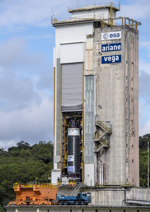 До конца недели Европейское космическое агентство проведёт тестирование самого большого твердотопливного ракетного двигателя