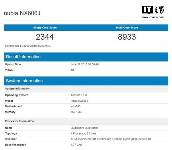 Раскрыты характеристики смартфона Nubia Z18 - 2