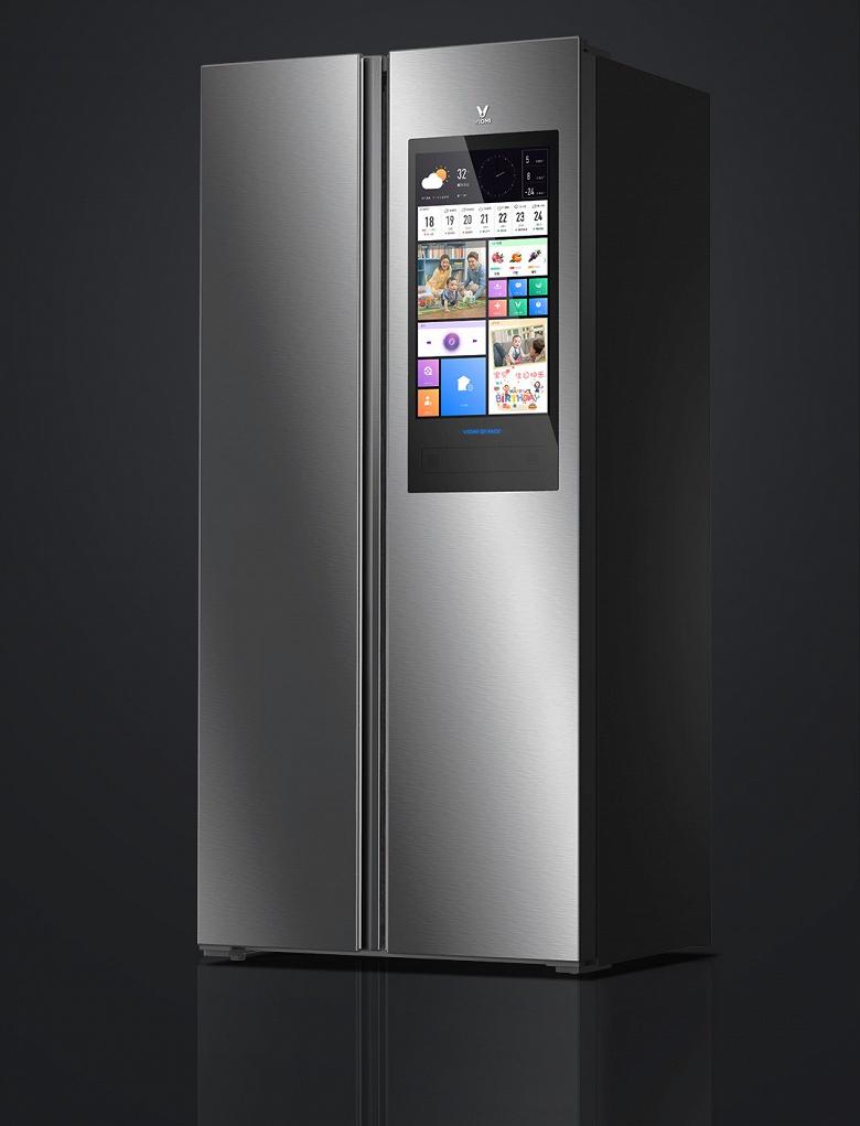 Огромный экран, голосовые команды и светодиодная подсветка — особенности холодильника Xiaomi Yunmi 450L