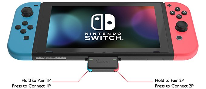 Адаптер Genki позволит подключить к Nintendo Switch сразу две Bluetooth-гарнитуры
