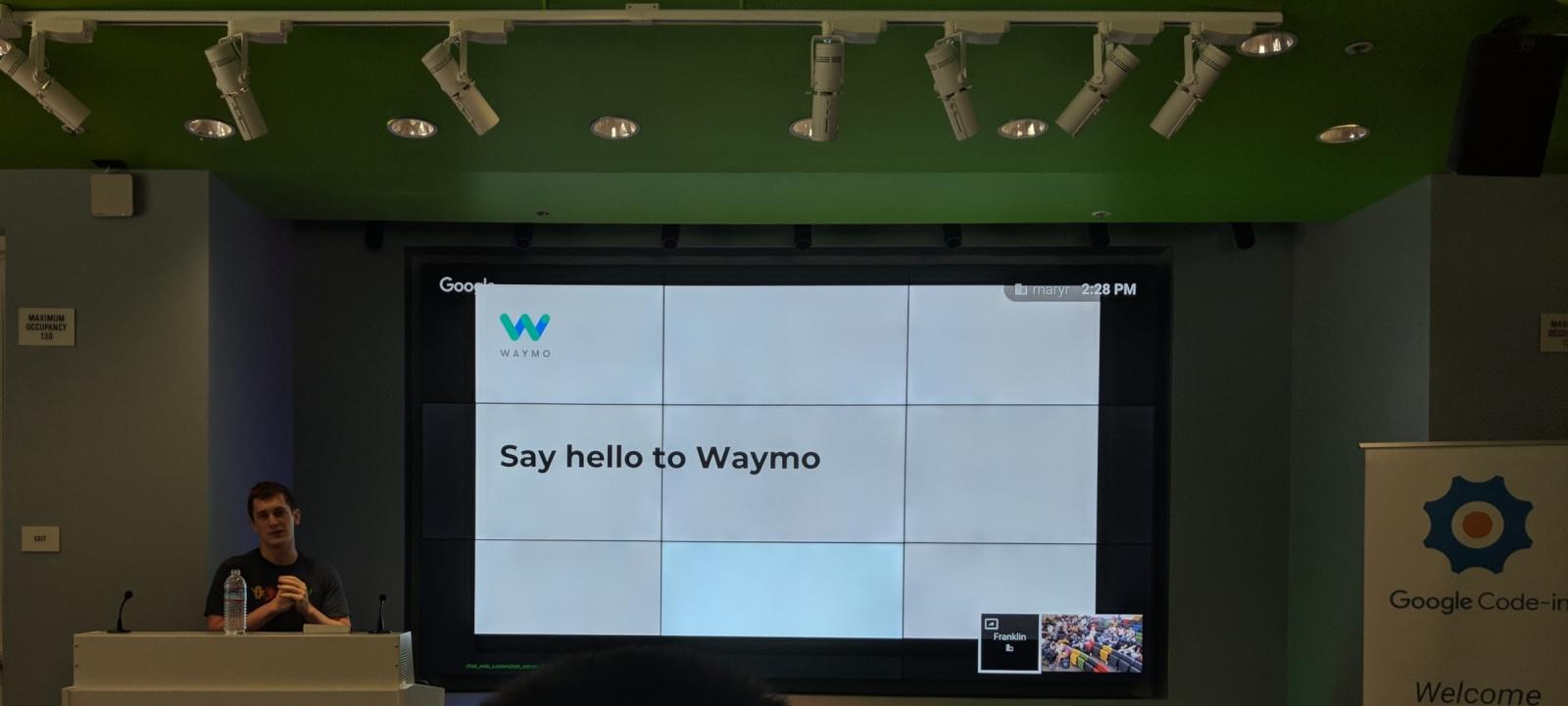 Спикер из Waymo