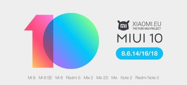 Глобальную бета-версию MIUI 10 уже могут загрузить владельцы 21 модели смартфонов Xiaomi