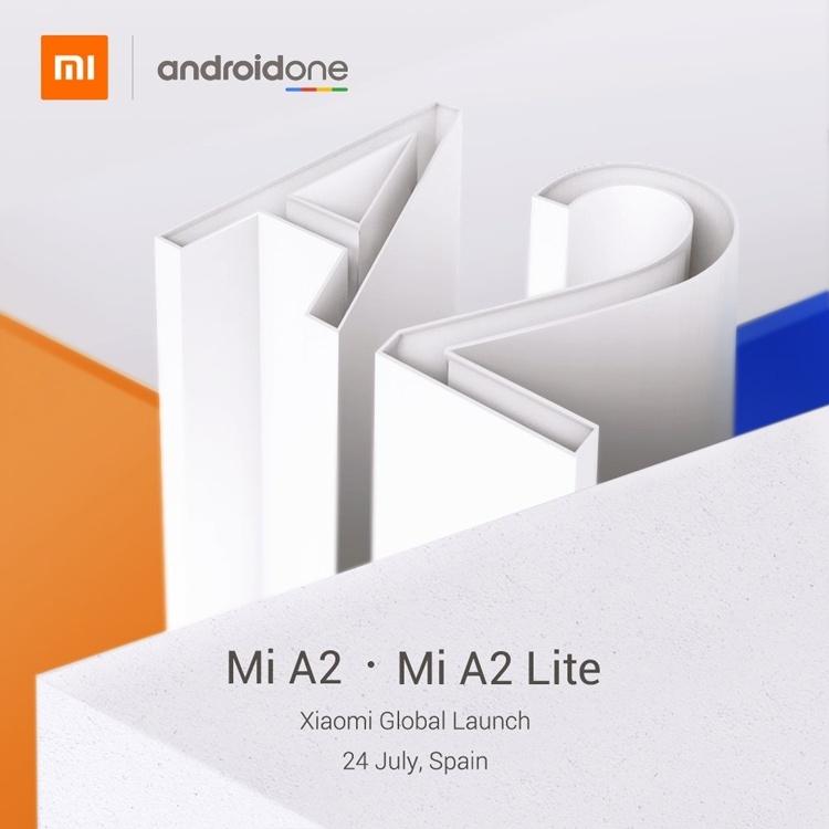 Xiaomi официально объявила дату анонса Mi A2 и Mi A2 Lite