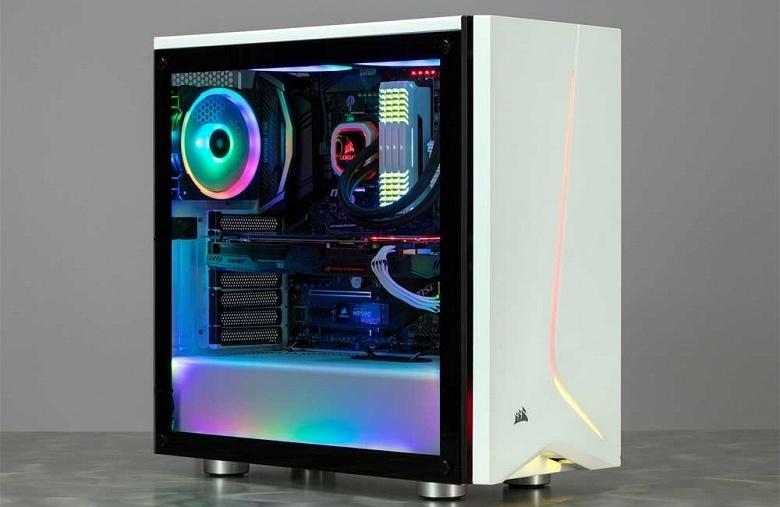 Боковая панель компьютерного корпуса Corsair Carbide SPEC-06 RGB изготовлена из стекла