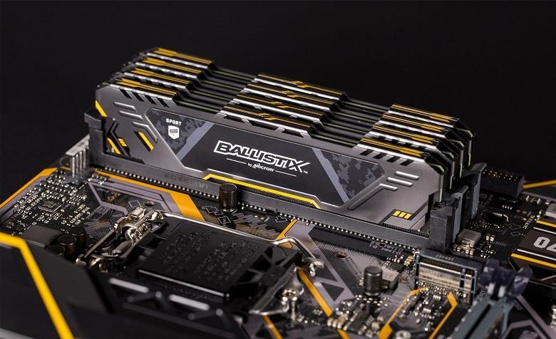 Начались продажи модулей памяти Crucial Ballistix Sport AT