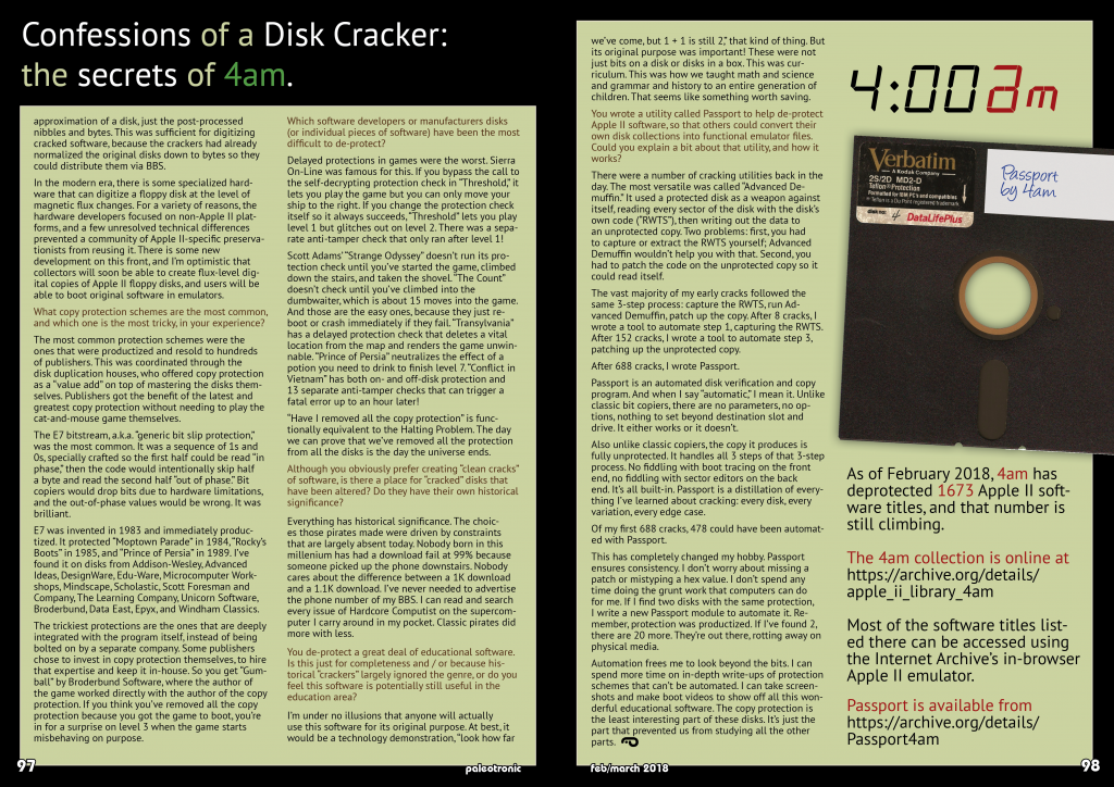 Признания взломщика дисков для Apple II: секреты 4am - 1