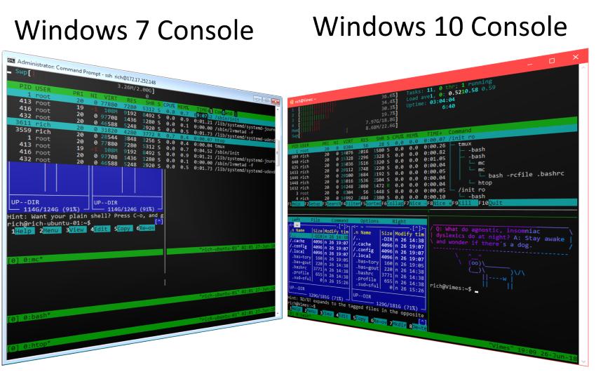 Тяжкое наследие прошлого. Проблемы командной строки Windows - 13
