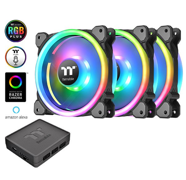 Вентилятор Thermaltake Riing Trio 12 RGB Radiator Fan TT Premium Edition будет поддерживать Alexa