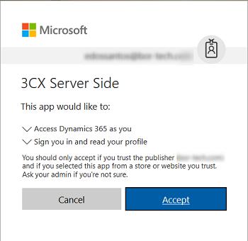 Интеграция 3CX с Microsoft Dynamics 365 - 10