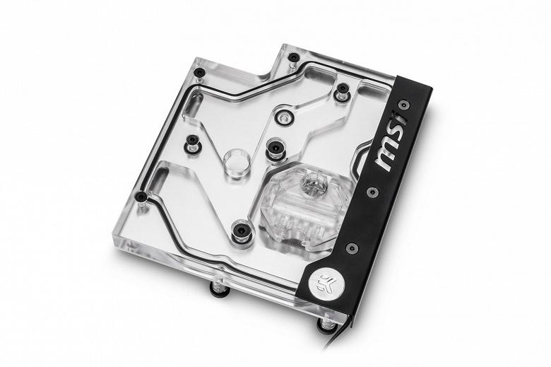 Подсветка водоблока EK Water Blocks EK-FB MSI X470 Pro Carbon RGB Monoblock совместима с системой управления MSI Mystic Light