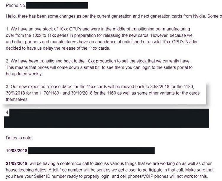 Выяснились даты выхода новых видеокарт NVIDIA
