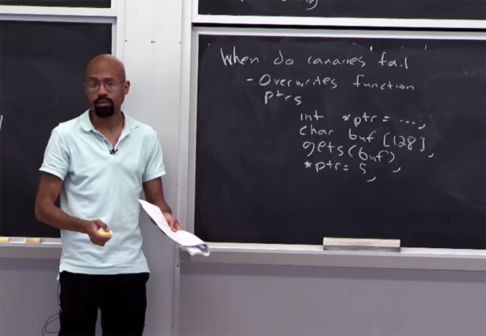 Курс MIT «Безопасность компьютерных систем». Лекция 2: «Контроль хакерских атак», часть 2 - 4