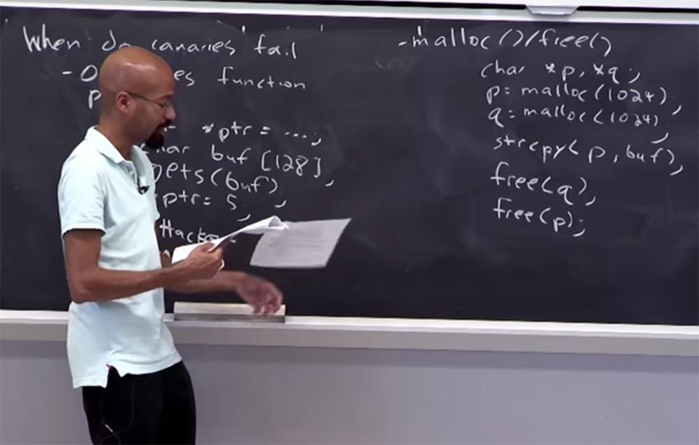 Курс MIT «Безопасность компьютерных систем». Лекция 2: «Контроль хакерских атак», часть 2 - 7