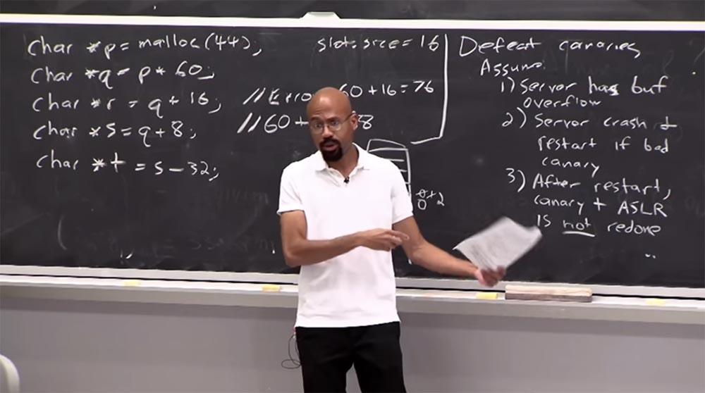 Курс MIT «Безопасность компьютерных систем». Лекция 3: «Переполнение буфера: эксплойты и защита», часть 3 - 1