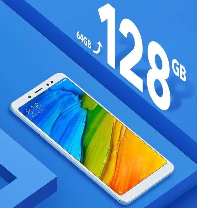 Смартфон Xiaomi Redmi Note 5 получил вдвое больше памяти при той же цене