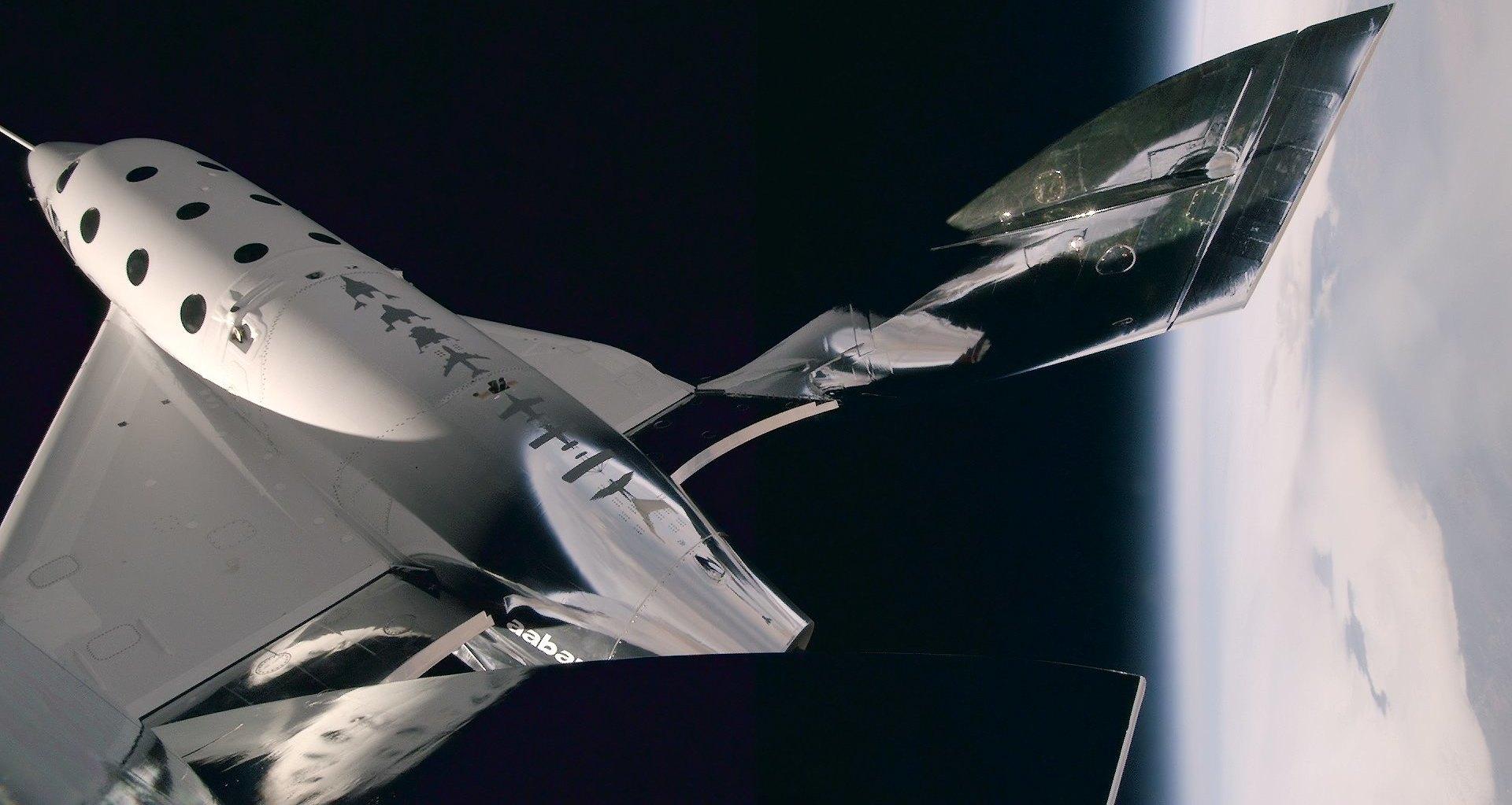 Космоплан VSS Unity совершил третий полет с включением ракетного двигателя